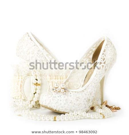 Chaussures perle perles femme beauté pied Photo stock © Dahlia