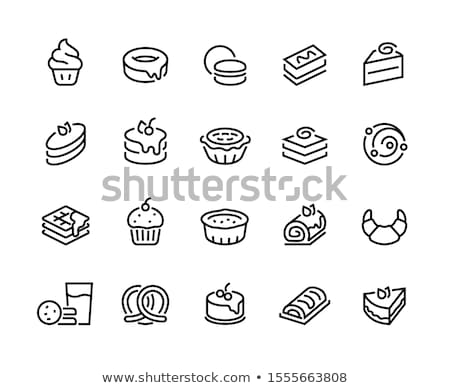 Sweet food and confectionery icons  Stock photo © stoyanh