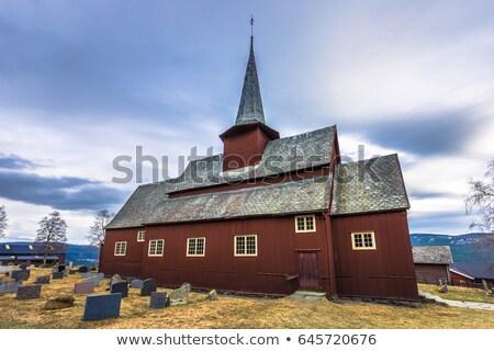 Hegge Stavkirke, Norway Stock photo © phbcz
