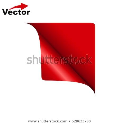 vermelho · branco · colorido · canto · fita · lata - foto stock © orson