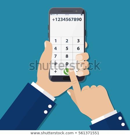 üzletember · szám · mobil · telefon · munka · háttér - stock fotó © Paha_L