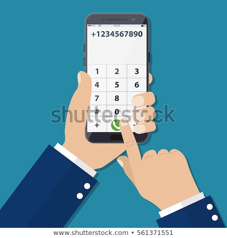 Foto stock: Empresario · número · celular · teléfono · trabajo · fondo
