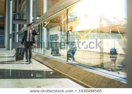 Stock photo: Businessman with baggage