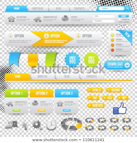 Blue and yellow vector elements for web pages Stock photo © orson