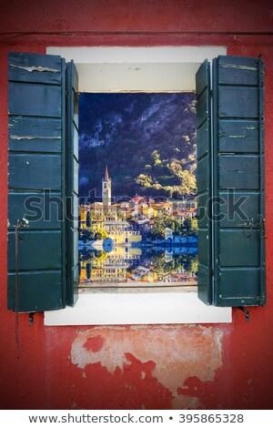 コラージュ イタリア 写真 建物 庭園 ウィンドウ ストックフォト © gant
