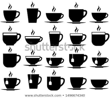 Кубок чай иллюстрация вектора современных свет Сток-фото © glyph