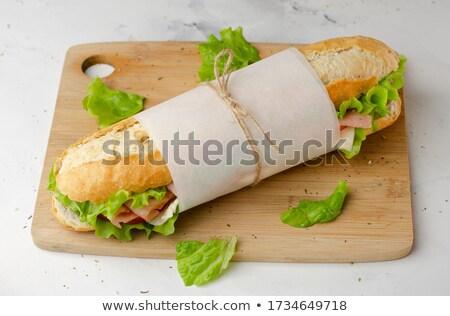 domuz · pastırması · marul · domates · sandviç · yalıtılmış · beyaz - stok fotoğraf © bendicks