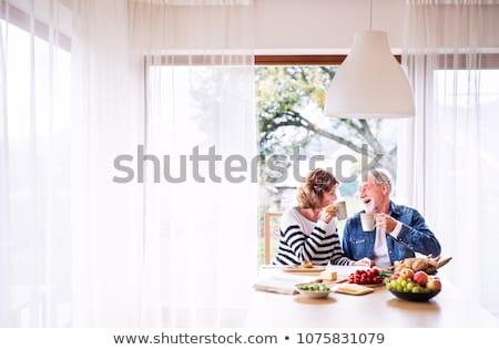 senior couple having breakfast Stock photo © photography33