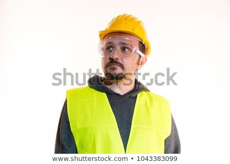 лице · Смотреть · Hat · белый · шлема - Сток-фото © photography33