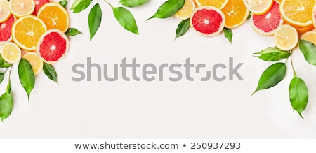Border with citrus-fruit of orange slices and copy space for tex Stock photo © Taiga