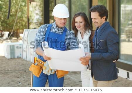 építész mutat dizájnok fiatal család iroda Stock fotó © photography33