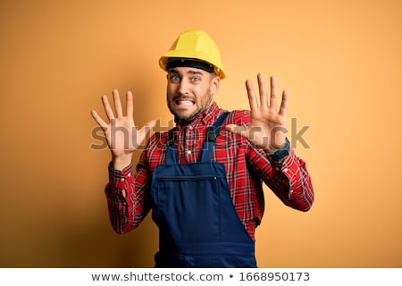 Megrémült építész üzlet ipar stúdió sisak Stock fotó © photography33