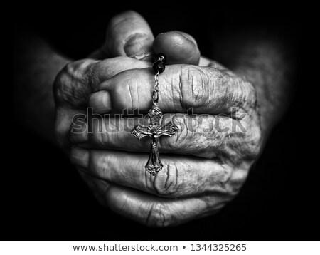 praying old hands stock photo © manaemedia