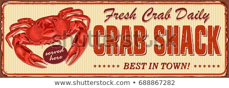 Stock photo: Crab with banner