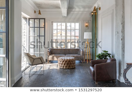 modern furniture in baroque design interior apartment royal sof stock photo © victoria_andreas