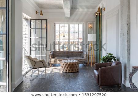 Modernes meubles baroque design intérieur appartement Photo stock © Victoria_Andreas