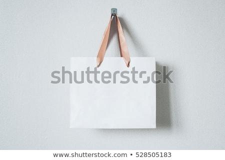 gerecycleerd · boodschappentas · hand · witte · handschoen - stockfoto © shutswis
