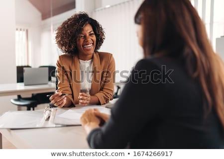 Vrouwelijke financieel adviseur kantoor werk pen pak Stockfoto © photography33