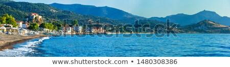 Görmek ada Yunanistan Yunan muhteşem akşam Stok fotoğraf © timwege
