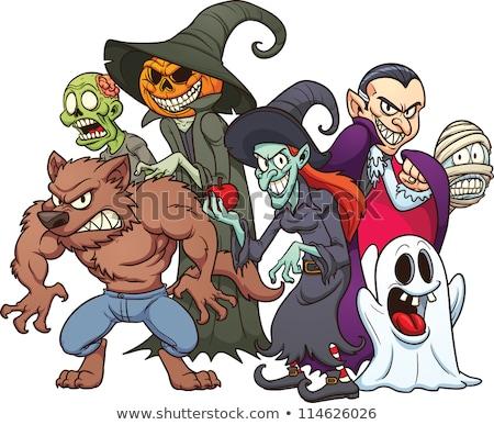 Kurt adam halloween canavar karikatür vektör görüntü Stok fotoğraf © chromaco