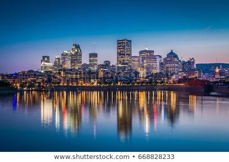 Montreal ufuk çizgisi Bina şehir köprü kentsel Stok fotoğraf © compuinfoto