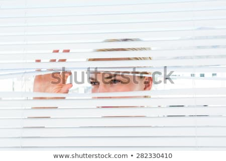 Szőke nő reluxa nő iroda nők női Stock fotó © photography33