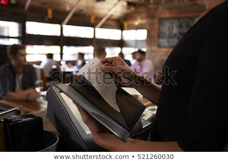 Restaurant bill Stock photo © ssuaphoto