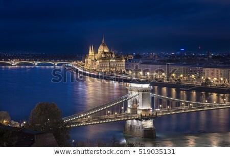 Hangbrug Boedapest Hongarije parlement gebouw Stockfoto © AndreyKr