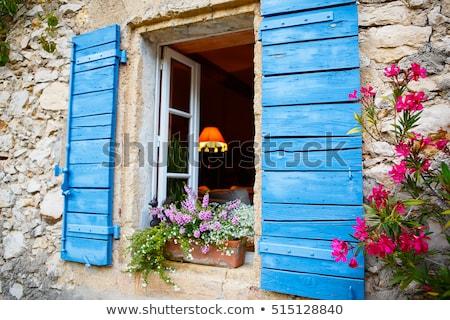 Typisch frans dorp Frankrijk architectuur Stockfoto © timwege