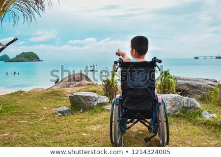Wheel Chair for Beach Stock photo © grivet