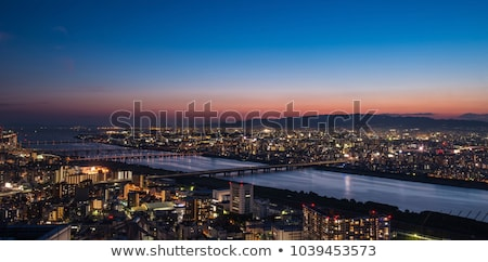 Osaka panorama hemel water huis Stockfoto © Arrxxx