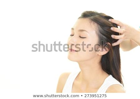 cabeça · massagem · foto · mãos · mulher - foto stock © photography33