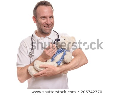 homem · bonito · médico · temperatura · nomeação · hospital - foto stock © wavebreak_media