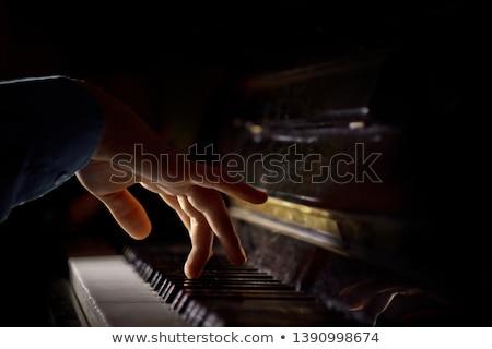 Kezek zongorista modern nő zongora kulcs Stock fotó © ssuaphoto