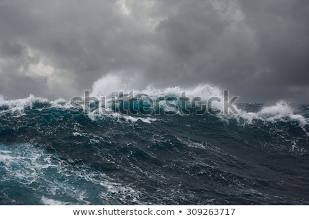 Photo stock: Océan · tempête · grand · vagues · plage · vague