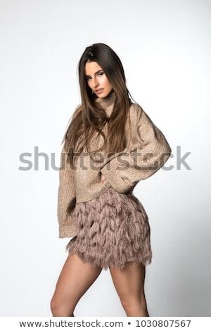 Seductive woman in short minskirt Stock photo © dash