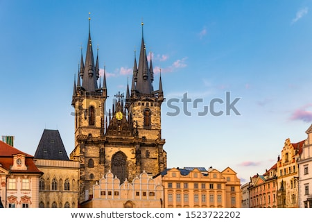 kerk · dame · Praag · dominant · oude · binnenstad - stockfoto © andreykr