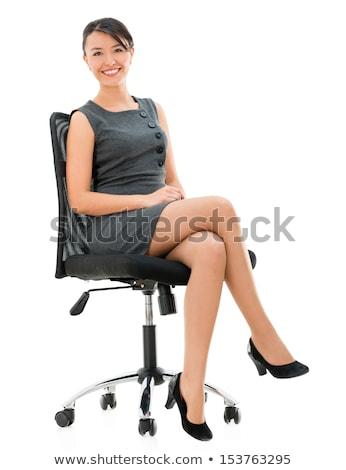 Feminino pernas meia-calça branco menina moda Foto stock © g215