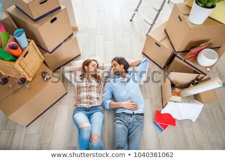 Mutlu yeni hayat birlikte ev iç genç Stok fotoğraf © photography33