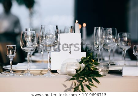Festive Wedding Table stock photo © tepic