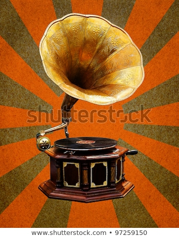 Vintage gramofone abstrato sol grunge Foto stock © stoonn
