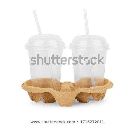 two empty latte macchiato glasses Stock photo © Rob_Stark