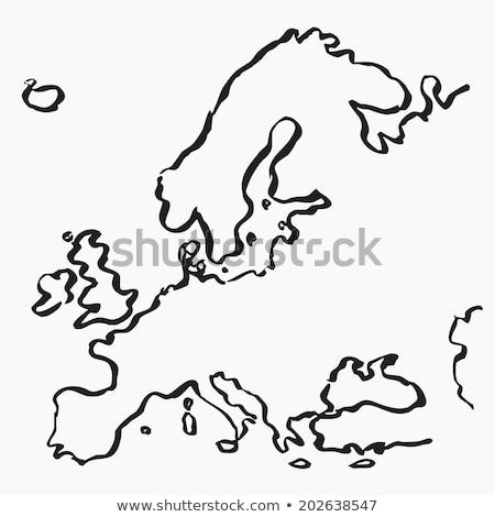 ヨーロッパ 地図 スケッチ 図面 ヨーロッパの 組合 ストックフォト © Lightsource