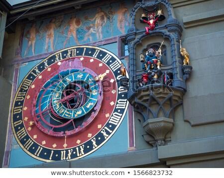 imagen · ciudad · Suiza · dramático · puesta · de · sol - foto stock © bigjohn36