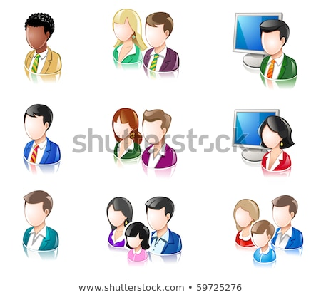 Various People Glossy IconSet Stock photo © AleksM