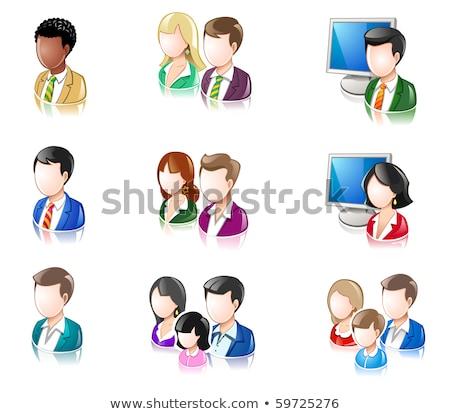 Various People Glossy IconSet stock photo © AleksM