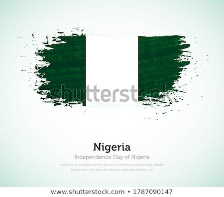 Zdjęcia stock: Banderą · Nigeria · obraz · tekstury · papieru