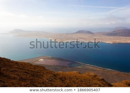 ラ · 島 · スペイン · 空 · 水 · 建物 - ストックフォト © hofmeester