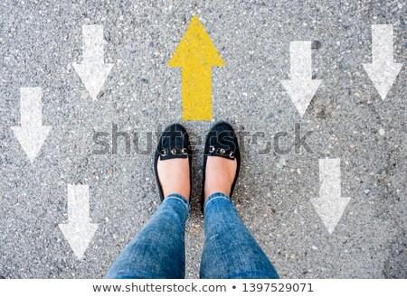 3次元の人々 · 道路標識 · 方法 · 右 · 白 - ストックフォト © 4designersart