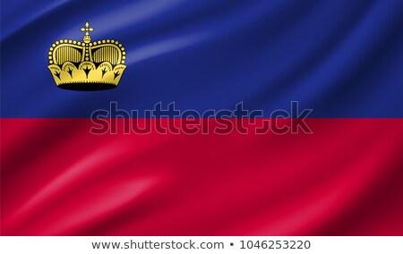 Fabric texture of the flag of Liechtenstein Stock photo © maxmitzu